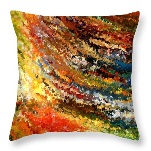 Contemporary Throw Pillow featuring the painting Modern Composition 07 by Rafi Talby