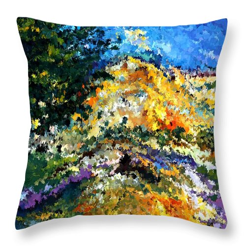Contemporary Throw Pillow featuring the painting Modern Composition 08 by Rafi Talby