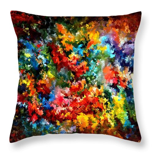Contemporary Throw Pillow featuring the painting Modern Composition 09 by Rafi Talby