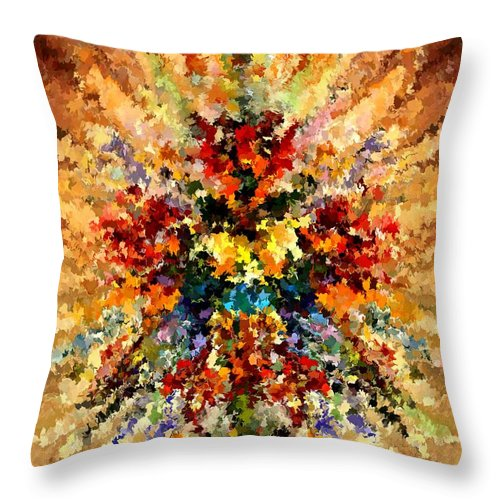 Contemporary Throw Pillow featuring the painting Modern Composition 10 by Rafi Talby