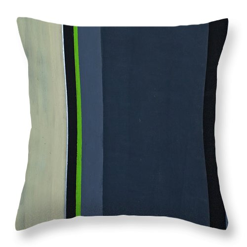 Geometric Throw Pillow featuring the painting Modern Stripe 1 by Slade Roberts