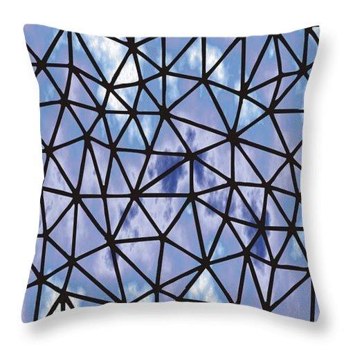 Modern Web Throw Pillow featuring the digital art Modern Web by Priscilla Wolfe