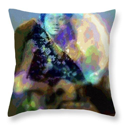 Tropical Interior Design Throw Pillow featuring the photograph Moe Uhane Haili Moe by Kenneth Grzesik