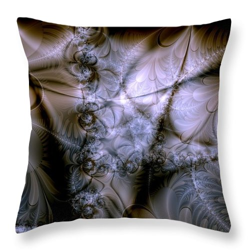 Chocolate Throw Pillow featuring the digital art Molecular Cacao by Casey Kotas