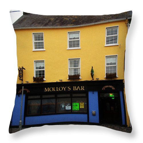 Pub Throw Pillow featuring the photograph Molloy by Tim Nyberg