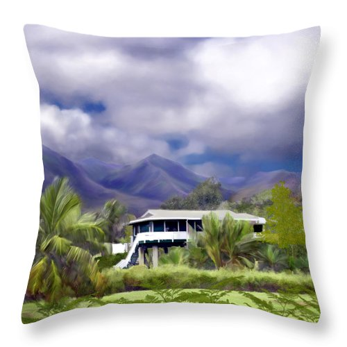 Hawaii Throw Pillow featuring the photograph Moloa A Bay Hideaway by Kurt Van Wagner