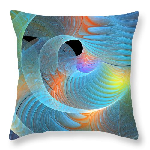 Digital Art Throw Pillow featuring the digital art Moment Of Elation by Amanda Moore