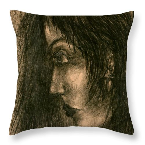 Psychedelic Throw Pillow featuring the drawing Moment by Wojtek Kowalski