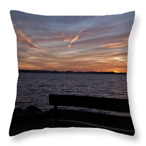 Wisconsin Throw Pillow featuring the photograph Moments Of Silence by Deborah Klubertanz