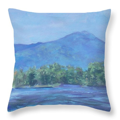 Mt. Monadnock Throw Pillow featuring the painting Monadnock Serenity by Alicia Drakiotes