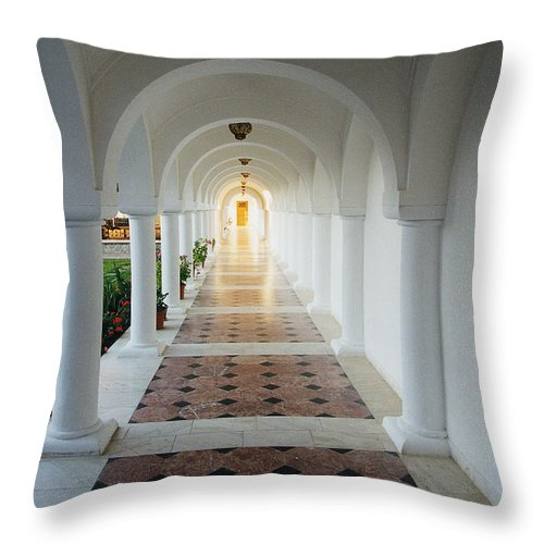 Monastic Throw Pillow featuring the photograph Monastic Tranquility by Adrian Bud