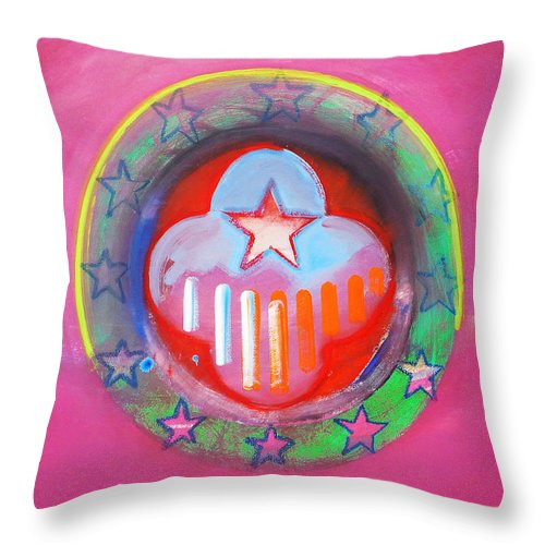 Symbol Throw Pillow featuring the painting Monetary Union by Charles Stuart