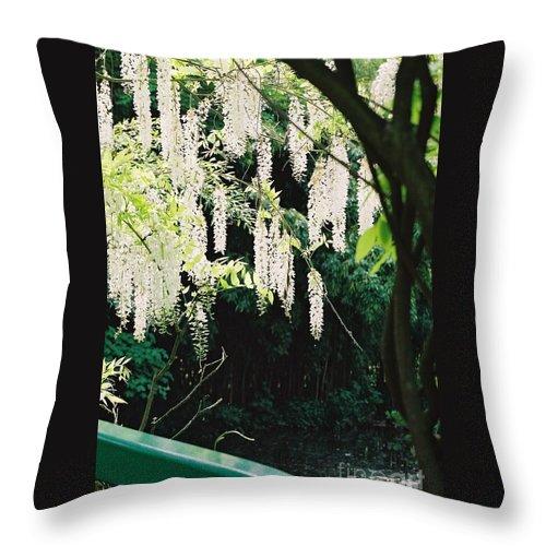 Monet Throw Pillow featuring the photograph Monet's Garden Delights by Nadine Rippelmeyer