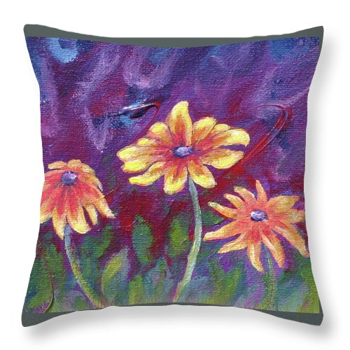 Small Acrylic Painting Throw Pillow featuring the painting Monet's Small Composition by Jennifer McDuffie