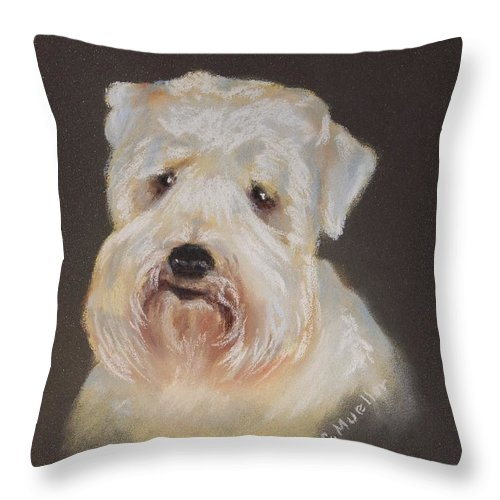 Pet Throw Pillow featuring the painting Monique's Bailey by Carol Mueller