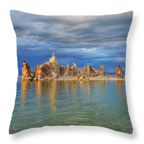 Mark Whitt Throw Pillow featuring the photograph Mono Lake Tufa by Mark Whitt