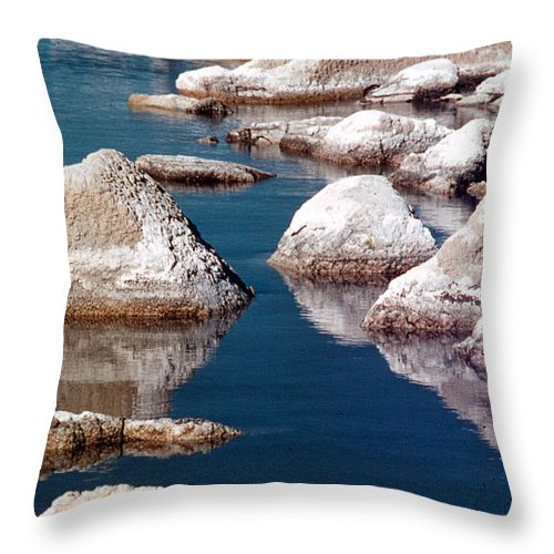 California Scenes Throw Pillow featuring the photograph Mono Lake Tufa by Norman Andrus