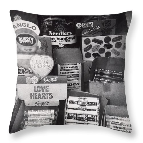 Candy Throw Pillow featuring the photograph Monochrome Candy by Charles Stuart