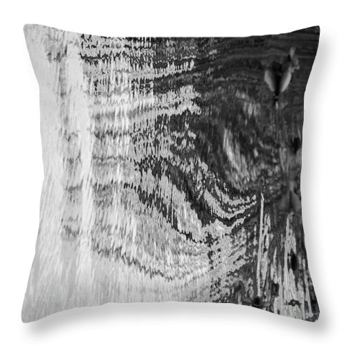 Abstracts Throw Pillow featuring the photograph Monochrome Water by Monica MINGOTE