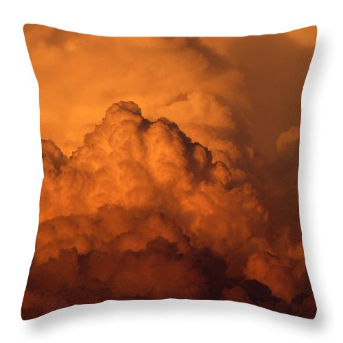 Thunderheads Throw Pillow featuring the photograph Monsoon Clouds by Cathy Franklin