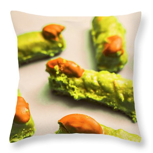 Finger Throw Pillow featuring the photograph Monster Finger Cake by Jorgo Photography - Wall Art Gallery
