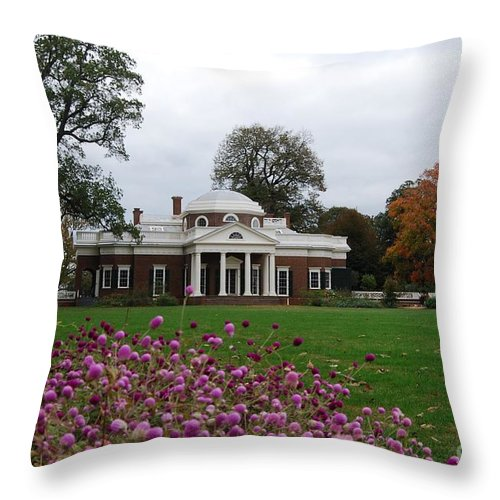 Fall Throw Pillow featuring the photograph Monticello by Eric Liller