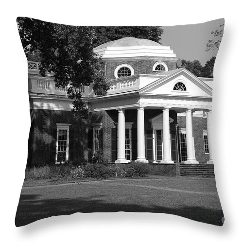 Monticello Throw Pillow featuring the photograph Monticello by Eric Liller