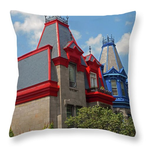 Montreal Throw Pillow featuring the photograph Montreal 32 by Ron Kandt