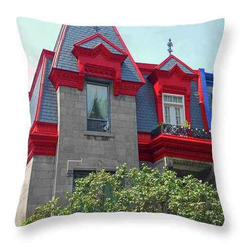 Montreal Throw Pillow featuring the photograph Montreal 33 by Ron Kandt