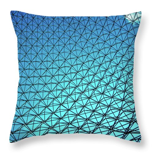 North America Throw Pillow featuring the photograph Montreal Biosphere by Juergen Weiss