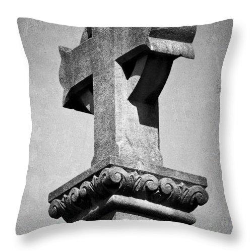 Irish Throw Pillow featuring the photograph Monument Cross Macroom Ireland by Teresa Mucha
