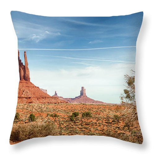 Monument Throw Pillow featuring the photograph Monument Valley by Jayme Spoolstra