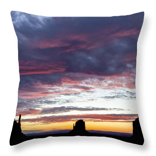 Monument Throw Pillow featuring the photograph Monument Valley Morning #1 by Steve Poland