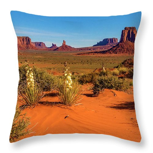 Monument Valley Throw Pillow featuring the photograph Monument Valley by Norman Hall