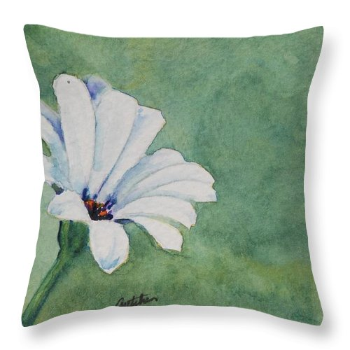 Flower Throw Pillow featuring the painting Mood Flower II by Gretchen Bjornson