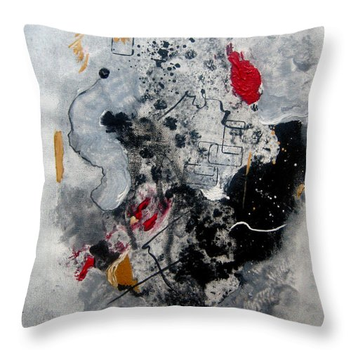 Abstract Throw Pillow featuring the painting Moods II by Ruth Palmer