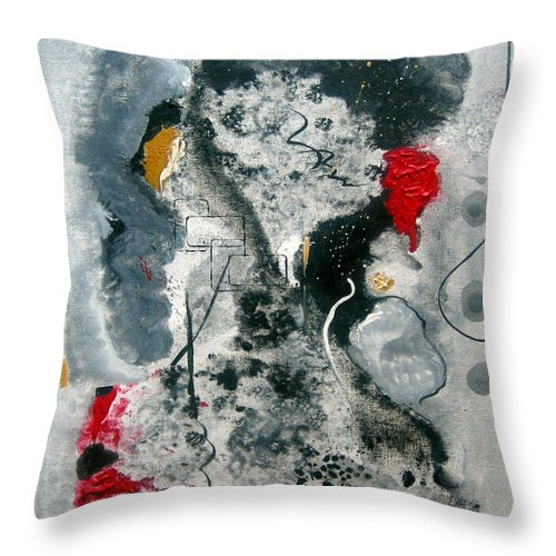 Abstract Throw Pillow featuring the painting Moods by Ruth Palmer