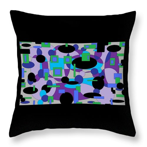 Digital Abstract Throw Pillow featuring the digital art Moody Purple by Jordana Sands