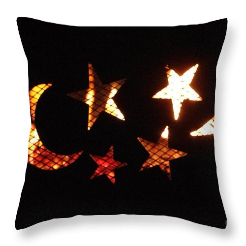 Throw Pillow featuring the photograph Moon And Stars by Gerald Kloss
