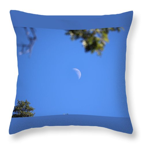 Moon Throw Pillow featuring the photograph Moon by Arturo Pena