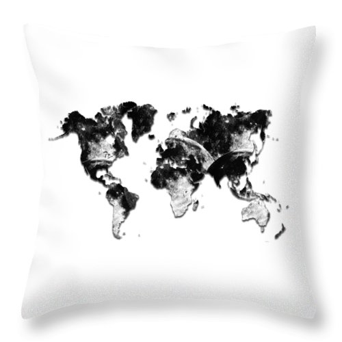 Moon Craters Throw Pillow featuring the digital art Moon Craters by Marlene Watson