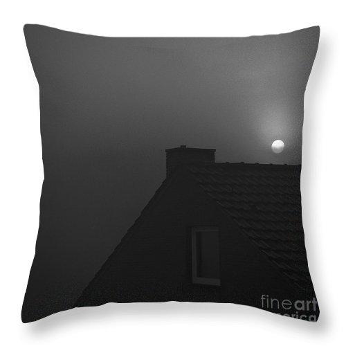 Dark Throw Pillow featuring the photograph Moon by Elisabeth Derichs