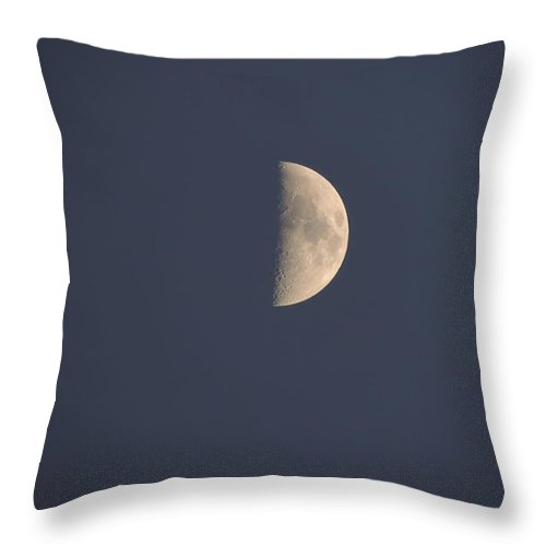 Moon Throw Pillow featuring the photograph Moon by Ernestas Jurginauskis