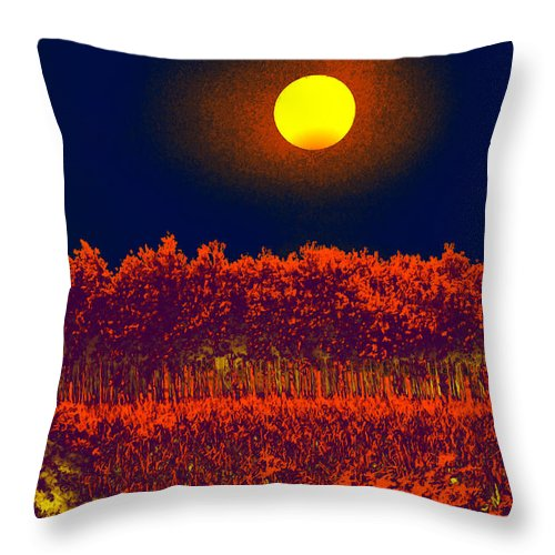 Moon Throw Pillow featuring the digital art Moon Glow by Bliss Of Art