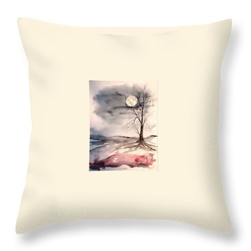Moon Throw Pillow featuring the painting Moon Light by Derek Mccrea