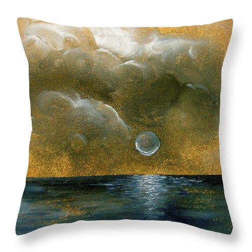 Moon Throw Pillow featuring the painting Moon Scape by Karen Doyle