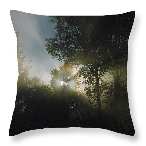 Moon Throw Pillow featuring the photograph Moonbeams by Bruce Thompson