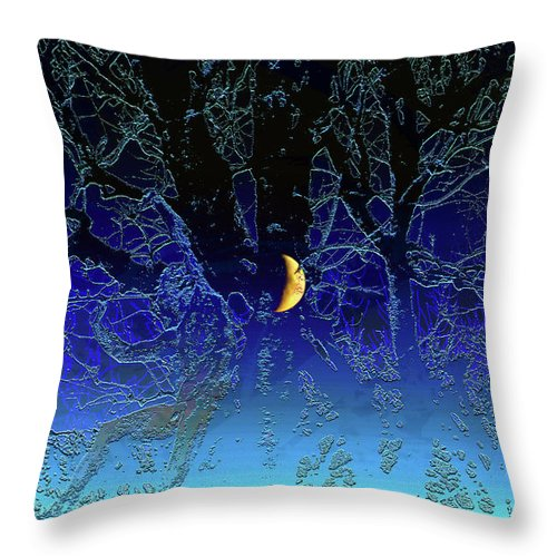 Moon Throw Pillow featuring the digital art Moondance by Marc Dettloff
