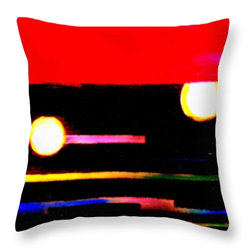 Moon Throw Pillow featuring the painting Moondance by Wbk