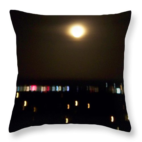 Night Light Throw Pillow featuring the photograph Moonglow by Laurie Paci